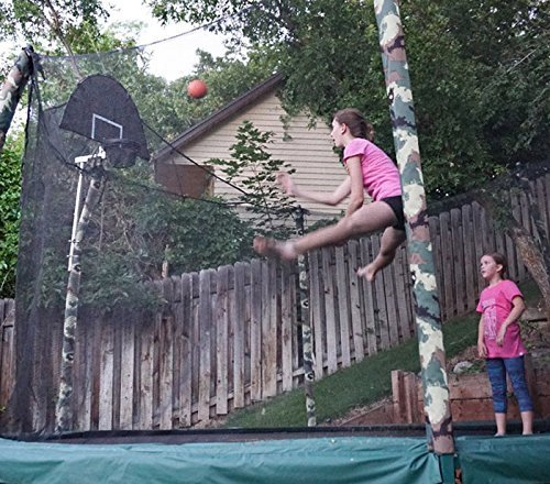 Jump Slammer Trampoline Basketball Hoop | Easy Install | Foam Ball Included | [Lifetime Parts Warranty] by Trampoline Pro (Image #5)