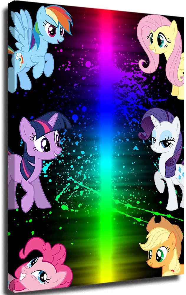 Canvas Wall Pictures Canvas Poster Wall Art My Little Pony Equestria Girls Room Home Decor 18x24inch