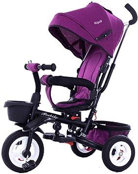 Hejok Triciclo Bebé para 1 AñO De Edad, Triciclo para NiñOs Triciclo para NiñOs 3 Ruedas Mi Primer Paseo Triciclo para NiñOs En Bicicleta De Pedales Al Aire Libre Multicolor, Purple: Amazon.es: