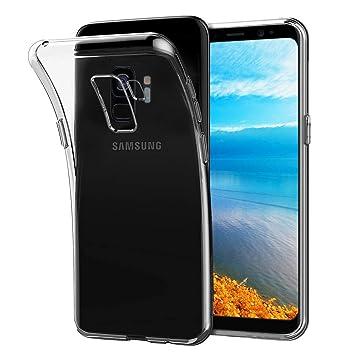 NONZERS Funda para Samsung Galaxy S9,Carcasa para Galaxy S9, Resistente a Arañazas,Transparente Carcasa Silicona Cristal para Samsung Galaxy S9