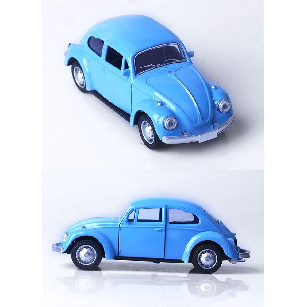 Escala de la Vendimia Escarabajo cl/ásico 1//32 Diecast Metal Tire hacia atr/ás con el Sonido y la luz del Coche de Juguete de Modelo para el Regalo//ni/ños Amarillas