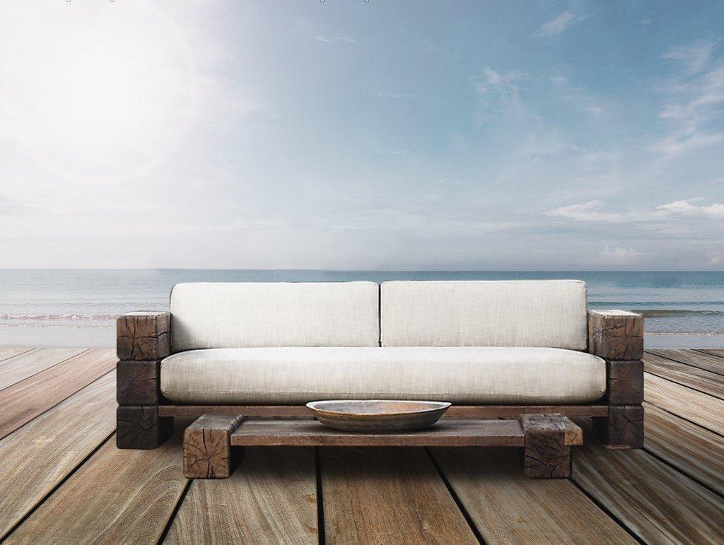 Die verbier outdoor drei sitzen sofa braun englisch for Sofa englisch
