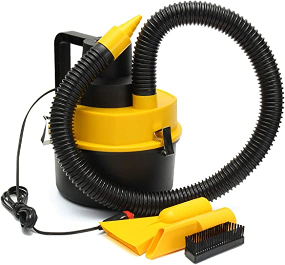 Benficial 12V Wet Dry Vac Vacuum Cleaner Inflator Portable Turbo Hand Held for Car,Great Power Car Cleaning Equipments