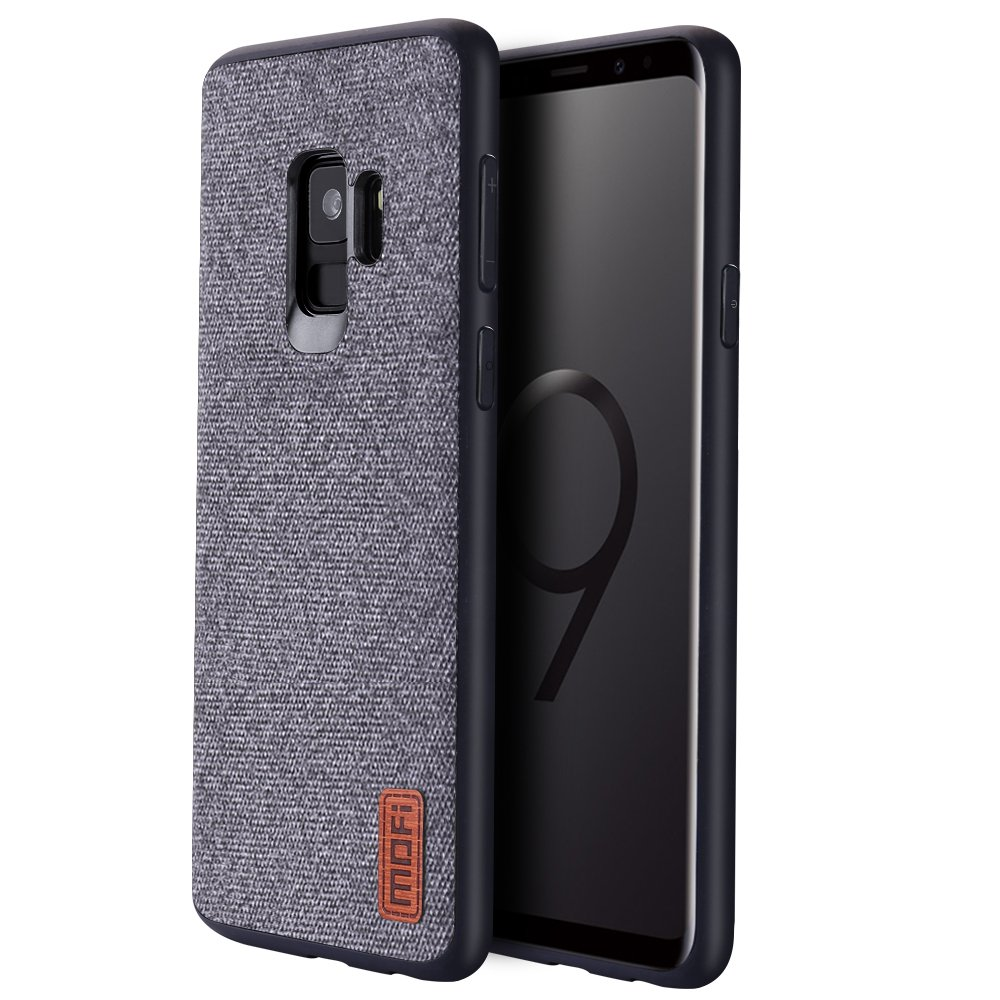 Samsung Galaxy S9 Cases, Anti-Scratch Shock-absorbing fabric business men Covers with Full Silicone Soft Edges and Great Grip, Fully-protective and Compatible for Samsung Galaxy S9 (Gray)