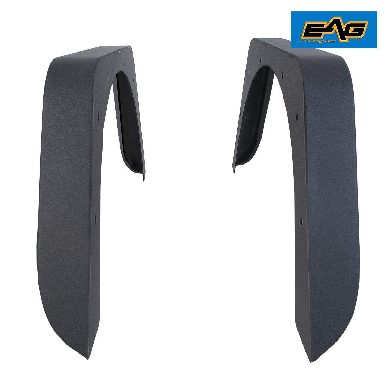 EAG Rear Fender Flare Armor Steel Fit for 97-06 Jeep Wrangler TJ