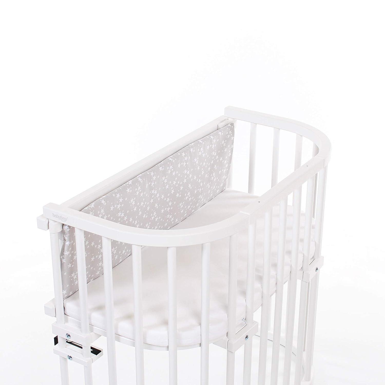 wei/ß Sterne blau babybay Gitterschutz Organic Cotton f/ür Verschlussgitter alle Modelle