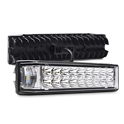 "SS VISION Triple Side Shooter LED Light Bar 24 LEDs 4800LM, 2PCS 7"" 60W Flood Spot Combo Off Road Driving Work Fog Light for ATV Jeep Truck Car: Automotive"