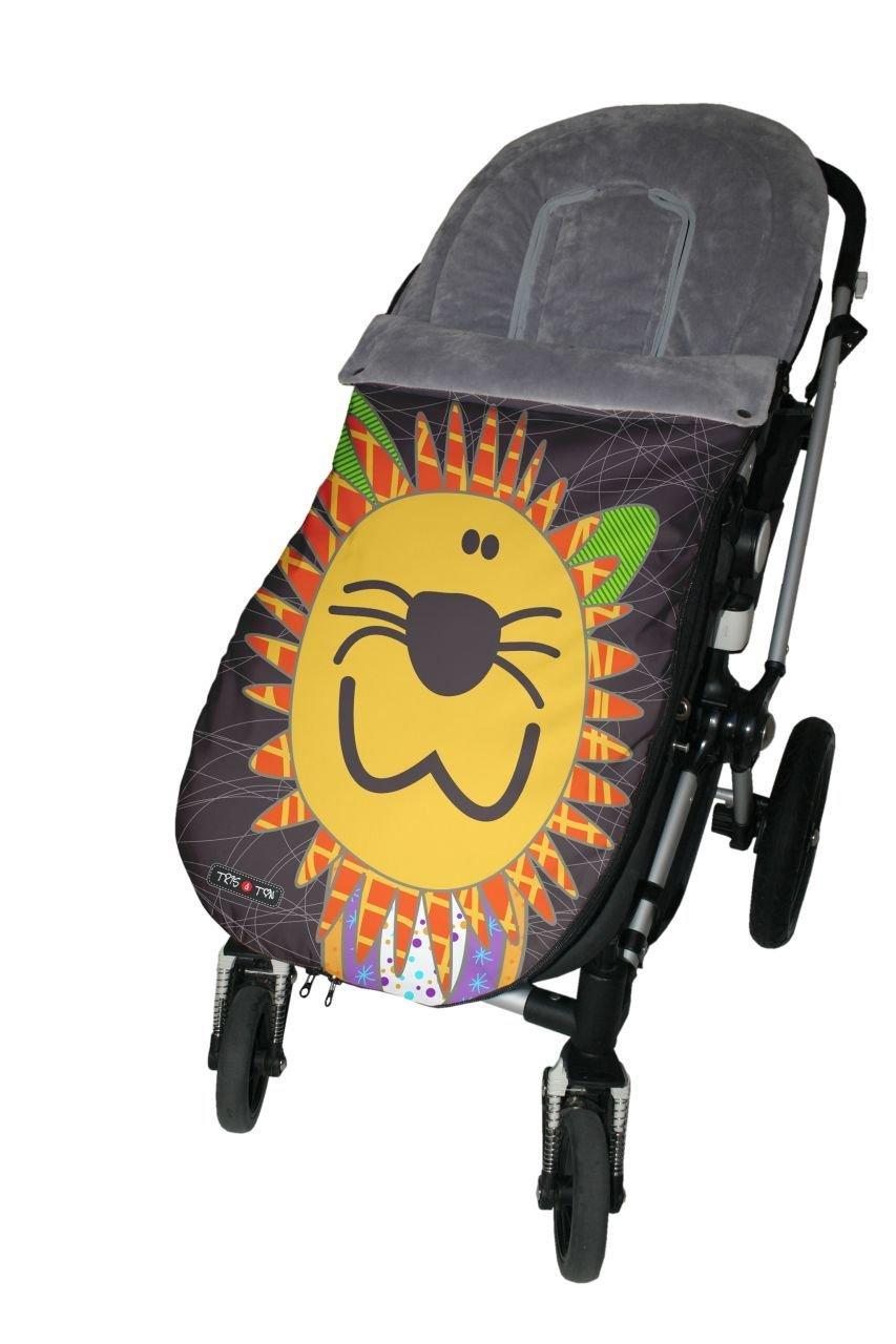 Tris&Ton Saco silla de paseo universal para bebe modelo Topitos Beige, Saco funda cochecito con forro polar impermeable invierno Saco de abrigo (Trisyton): ...
