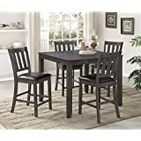 Amazon.com: Grey - Table & Chair Sets / Kitchen & Dining Room ...