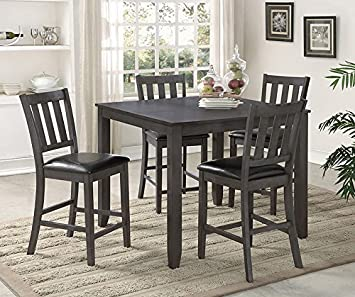 Amazon Crown Mark Cosgrove 5pc Counter Height Dining Set