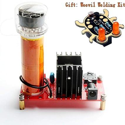 DIKAVS DIY Welding kit (1 Red Tesla Coil Kit (Digital Tube + Weevil Eye  Kit))