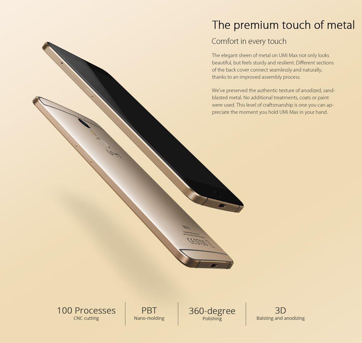 UMI Max 4G phablet - Android 6.0 smartphone de 5,5 pulgadas ...