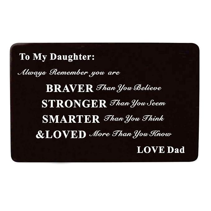 Amazon Laser Engraved Aluminum Metal Wallet Card Love Note