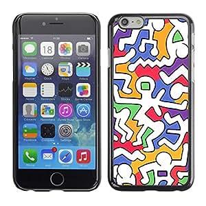 [Neutron-Star] Snap-on Series Teléfono Carcasa Funda Case Caso para Apple (4.7 inches!!!) iPhone 6 / 6S [Colorido extranjero Weird Blanco Moderno]