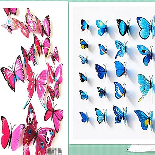 Amaonm Man Made Butterfly Stickers Decoration