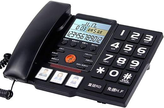 Wired telephone TeléFono, TeléFono Fijo Viejo TeléFono Fijo, TeléFono InaláMbrico Grande De Una Pantalla con Pantalla Grande, TamañO: 190 * 85 * 255 Mm: Amazon.es: Hogar