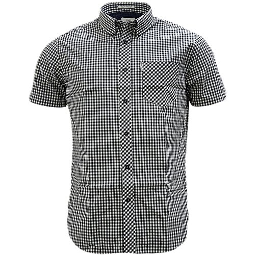 Ben Sherman Button Down Gingham Check Shirt - 47949 Black (Ben Sherman Check Shirt)