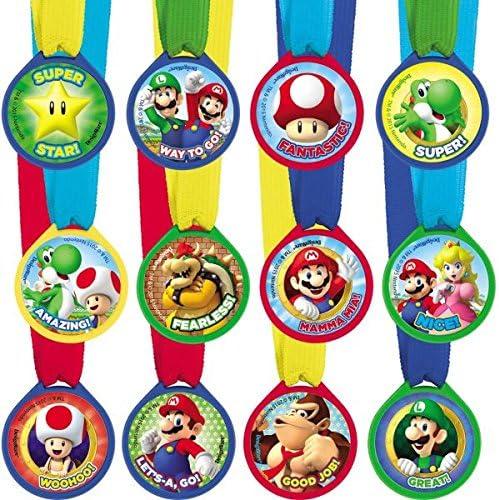 Super Mario Bros - Mini Award Medals, 12 Unidades (Amscan 396611): Amazon.es: Juguetes y juegos