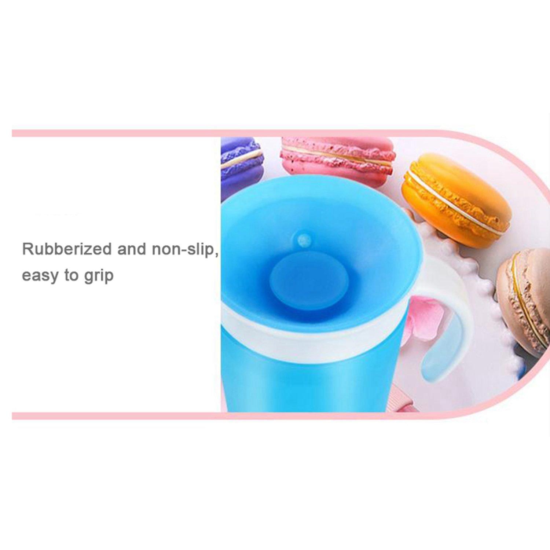 bleu Nrpfell Magique etanches saupoudrer Tasse a boire pour enfants 360 degres coupe etanche tasse dentrainement pour bebe