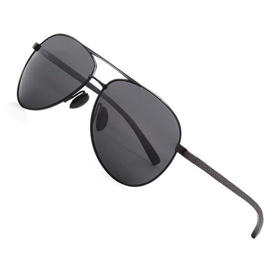 CGID Gafas de sol para hombre, gafas de piloto, polarizadas ...