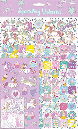 Papel Proyectos 01.70.22.010 unicornios Mega Sticker Pack Paper Projects