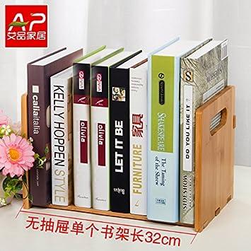 Freestanding Book Shelf / Desk Top Organization, Table Little Bookshelf  Racks,scalable Small Desk