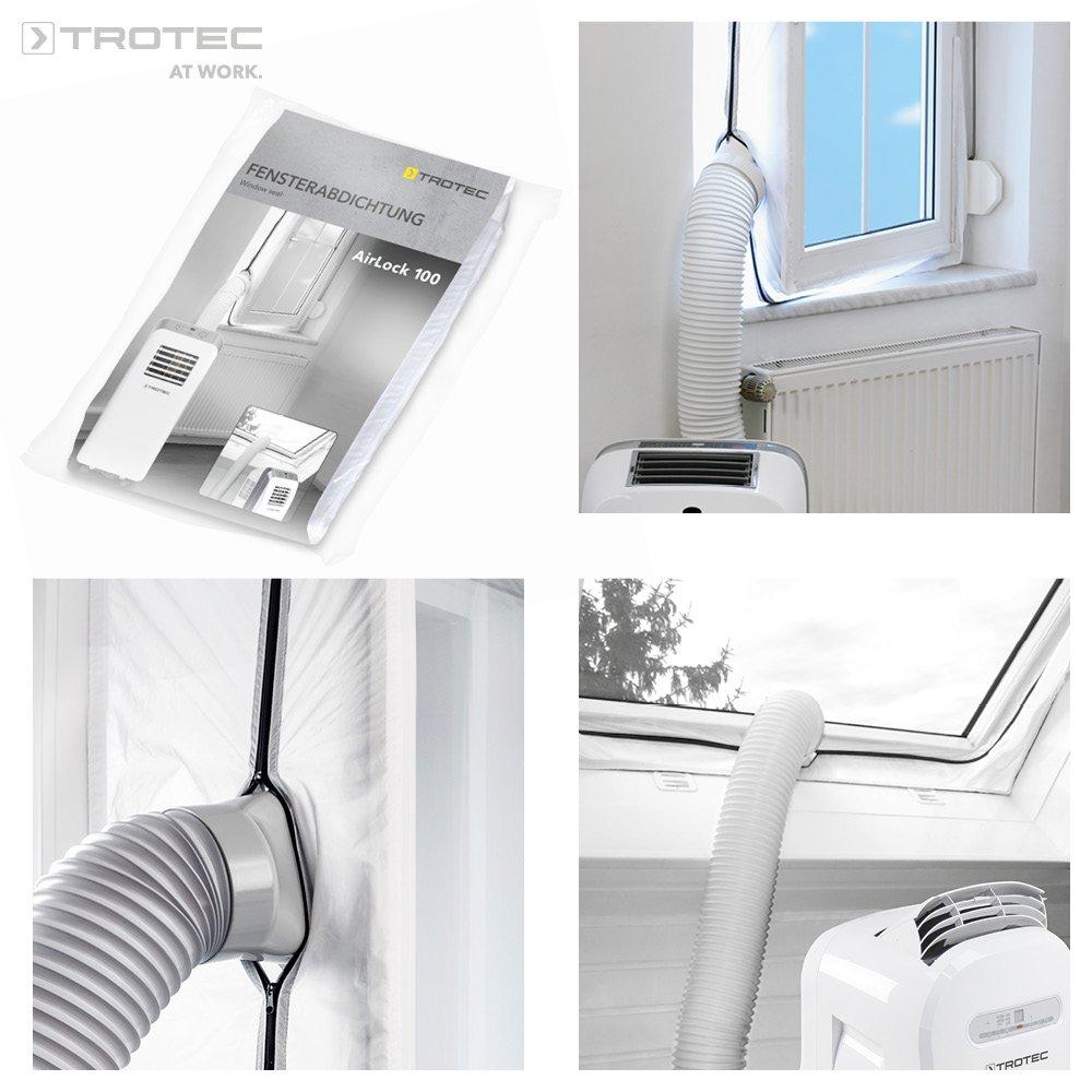 accesorio de climatizador TROTEC AirLock 200 Impermeabilizaci/ón de ventanas para aires acondicionados m/óviles Hot Air Stop