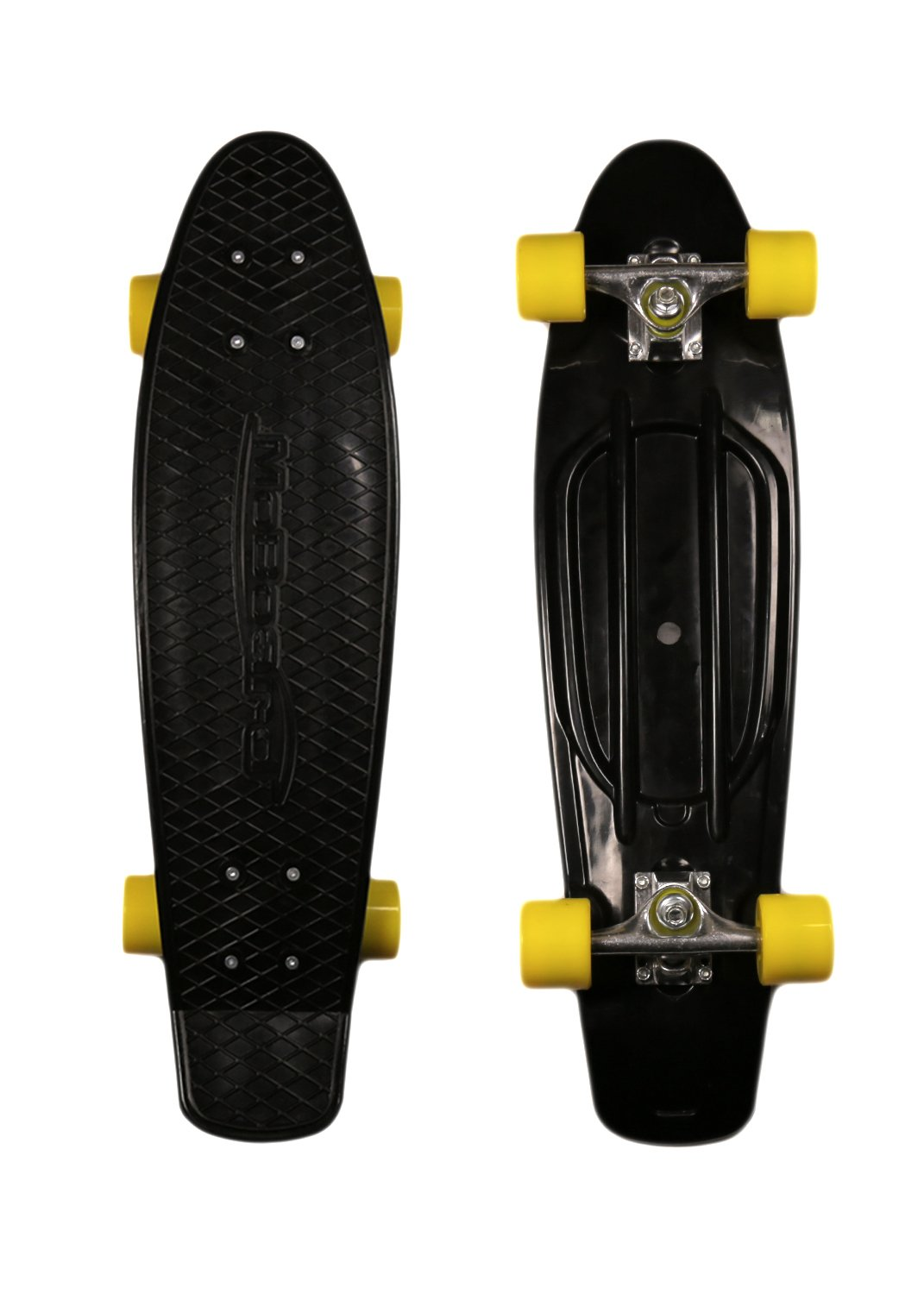 MoBoard 27'' Inch Graphic Complete Skateboard (Black - Yellow)
