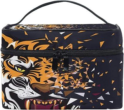 Abstract Tiger Women Travel Cosmetic Bag Estuche de maquillaje portátil Estuche para artículos de tocador Organizador de belleza: Amazon.es: Belleza