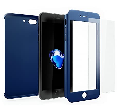 coque iphone 5 360 degres bleue