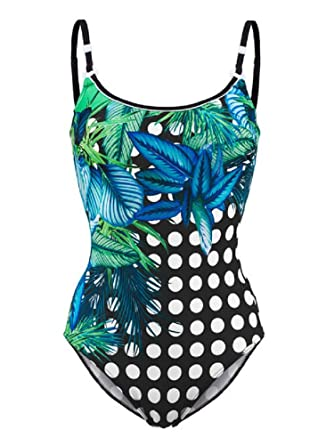 Einkaufen großer Rabatt Turnschuhe für billige Sunflair Damen Badeanzug Garden Dots: Amazon.de: Bekleidung