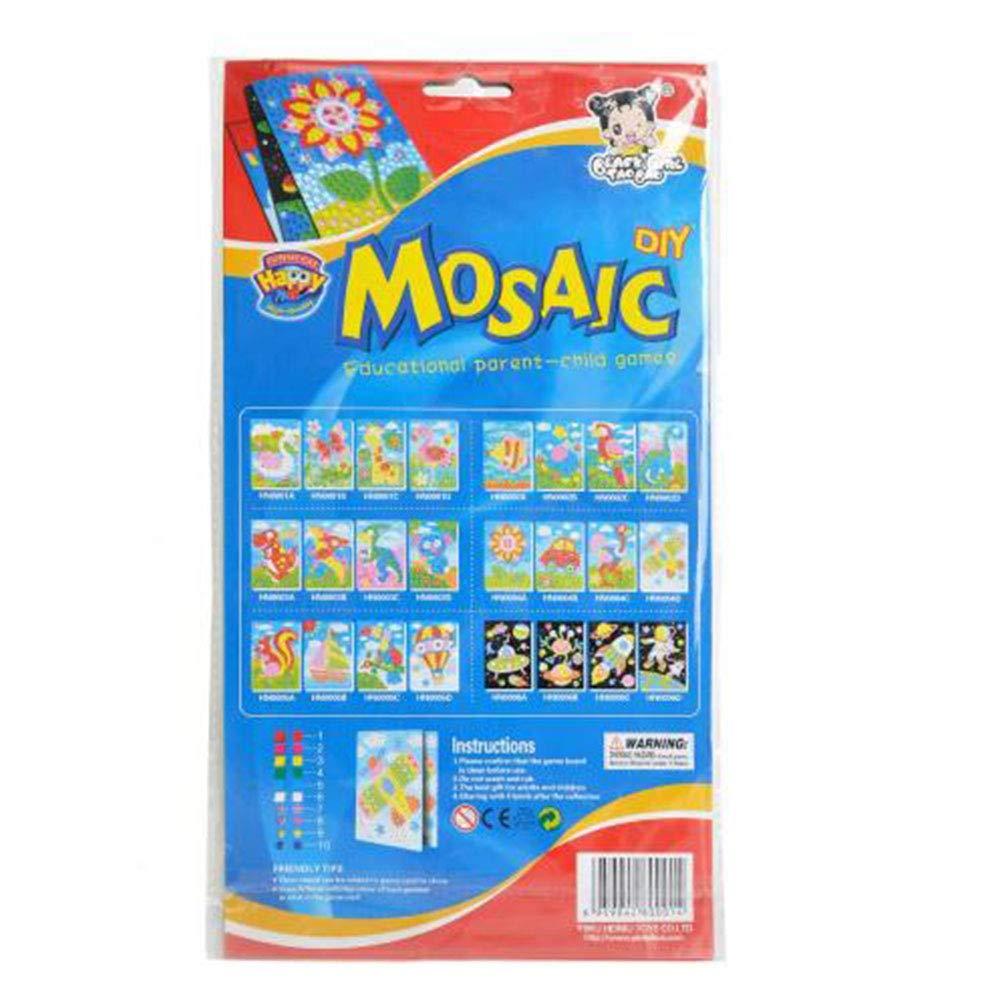 BeesClover Enfants Puzzle DIY mosa/ïque Stickers Jouets Art Dessin anim/é Autocollant Educational Toys Style al/éatoire