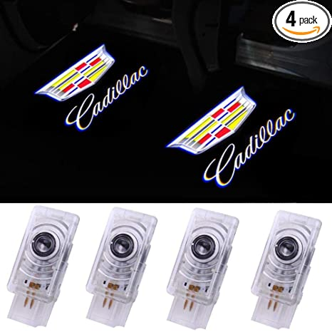 4 Pack Grolish Cadillac Accessories Car door LED Logo Projector Lights Courtesy Welcome Lights For Cadillac SRX XTS ATS