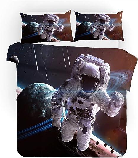 REALIN Fundas Nórdicas Astronauta Espacial Juego De Ropa De