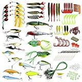 #9: AntFishing Fishing Lures Kit By 180-Piece Fishing Baits Set With Tackle Box – Fishing Gear For Beginners & Professional Fishermen – Premium Fishing Jigs & Spinnerbait Accessories – Great Gift Idea