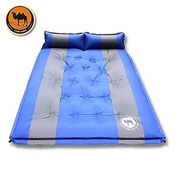 Autoinflable colchón, manta de dormir con almohada inflable para 2 ...