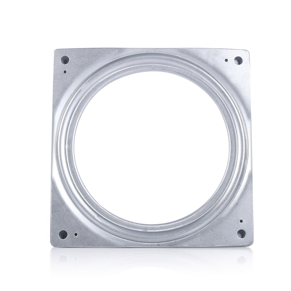 "4"" Square Full Ball Bearing Swivel Plate, Metal Rotating Turntable Plate for TVs, Desk, TV Desk,TV Rack Desk,Potted Plants,Laptop and Stereo Speakers Yosoo"