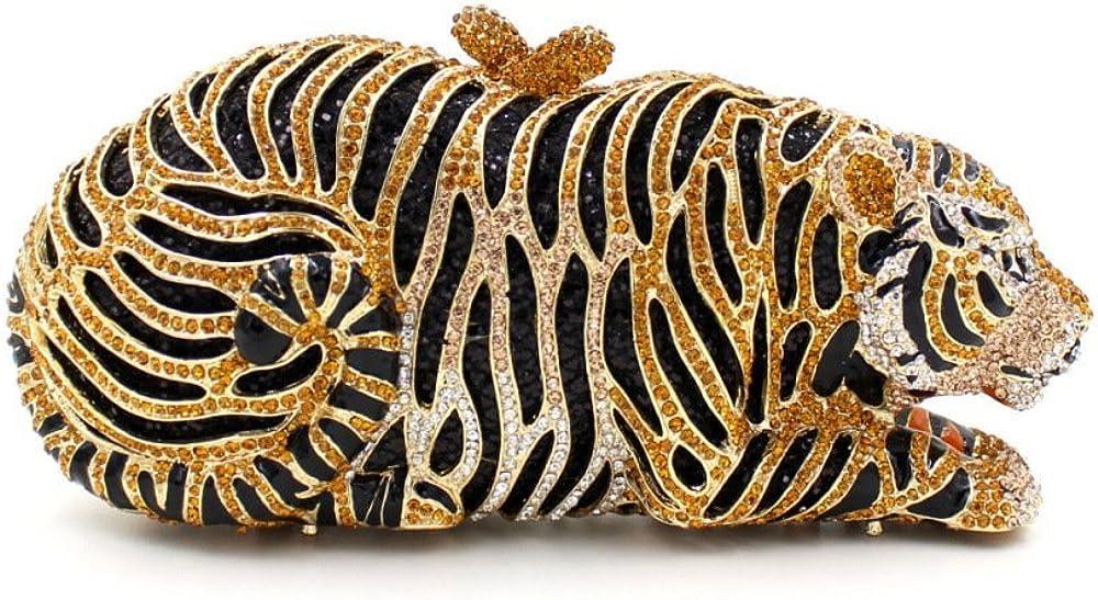 Chirrupy Chief Tiger Clutch Purse Bling Rhinestone Clutch Evening Bag