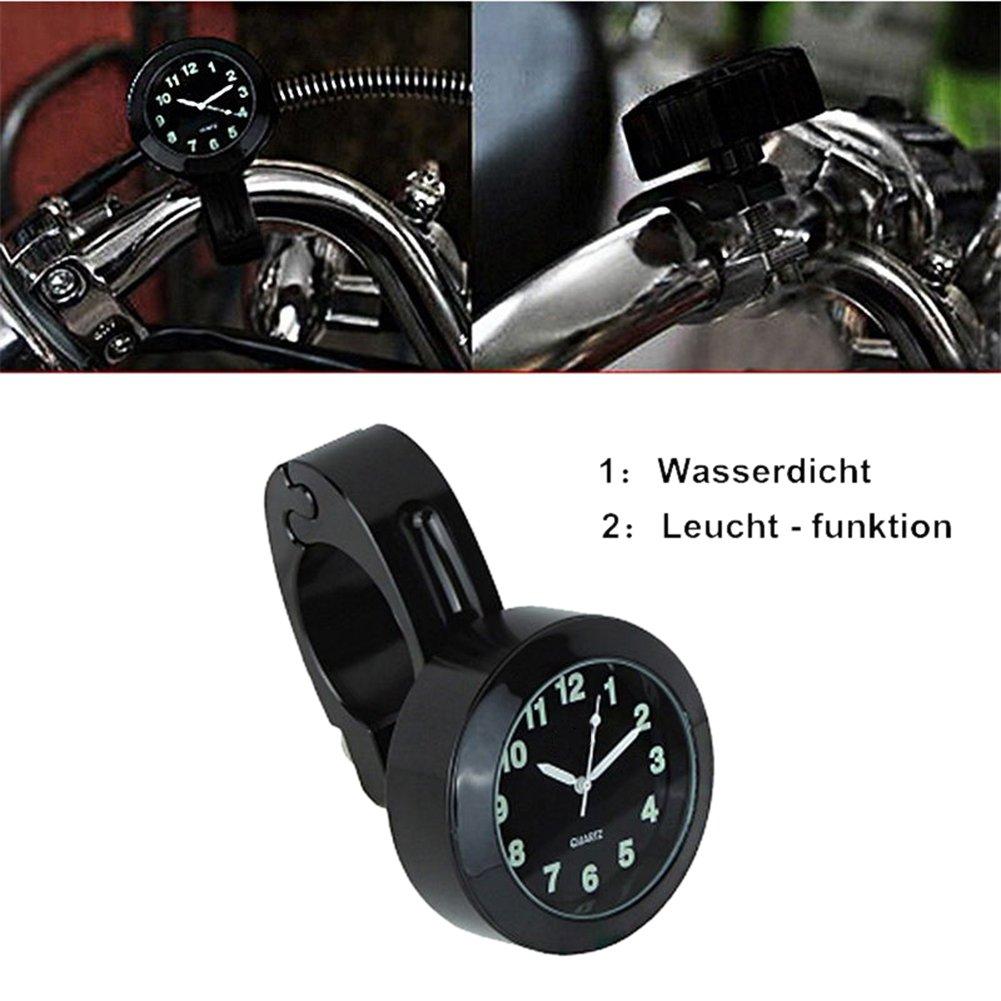 oshide Universal Alu Motorraduhr Uhren Motorrad Motorr/äder Lenker Uhr Lenkeruhr Ziffernblatt