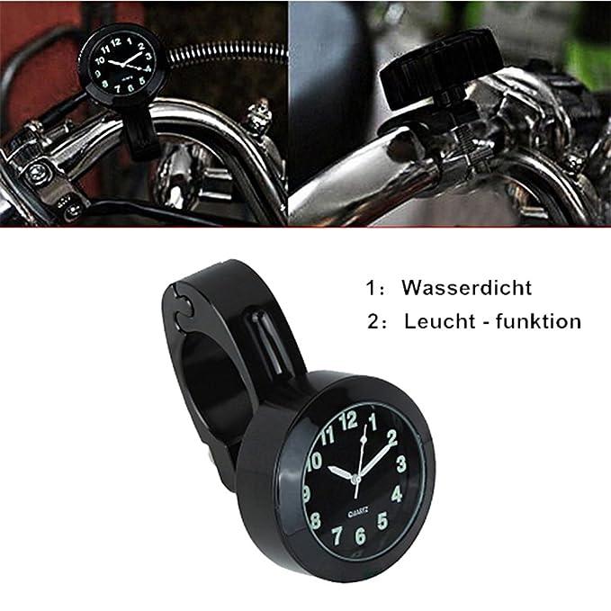 Reloj de la Motocicleta,GZQES,Reloj Manillar Montaje del Motor,Relojes para Halley,Lenke Ruhr universal 7/8