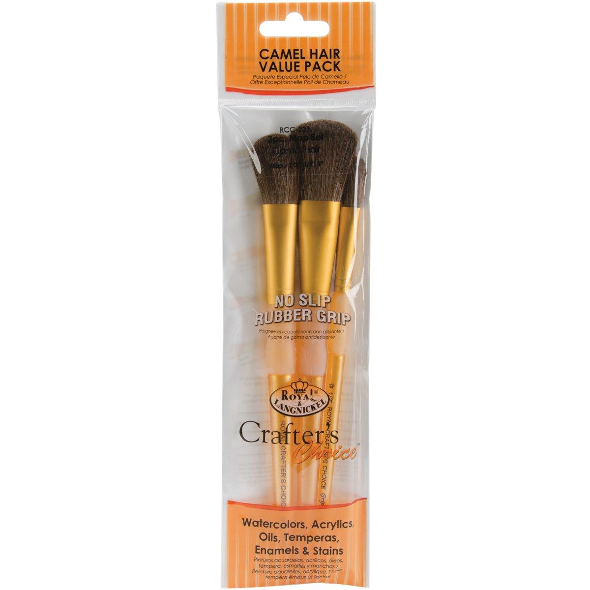 Brush Set Camel 3/Pkg-Mop Royal Brush RCC231
