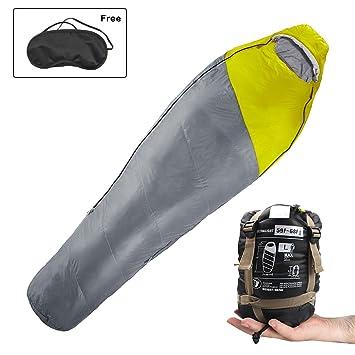 Innospo Saco de dormir para coche o camping (plegable, 2 bolsas, impermeable,