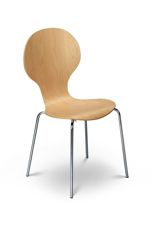 Julian Bowen Keeler Lot de 4 chaises Noir