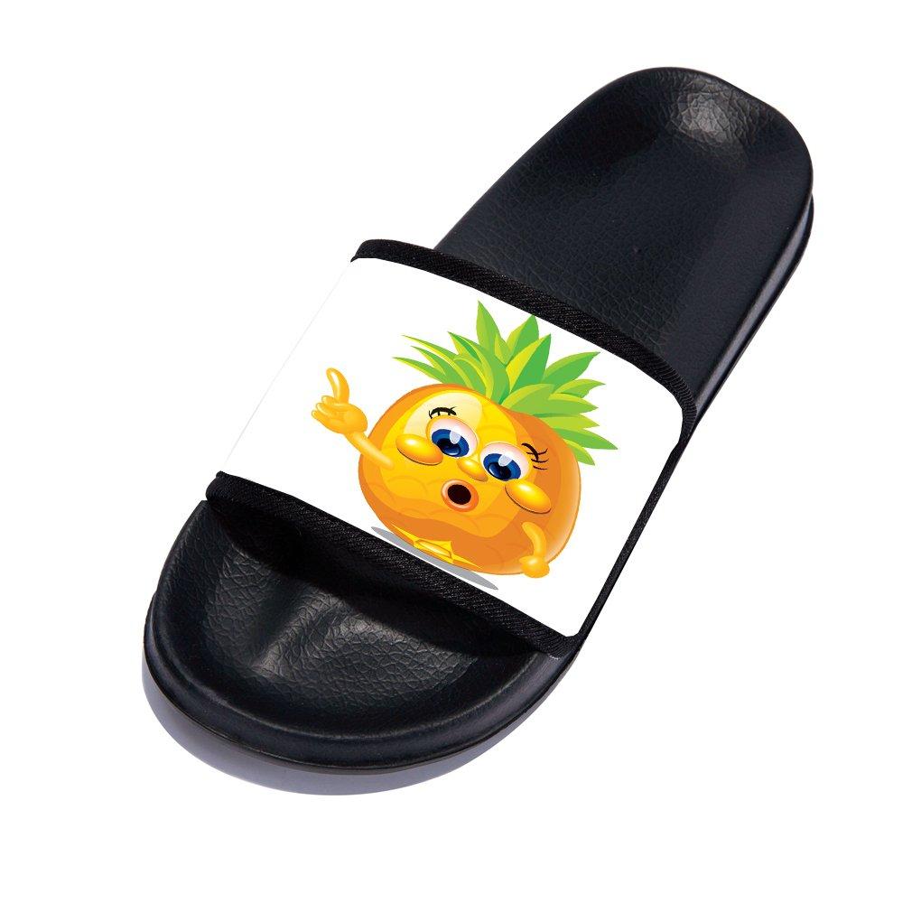 Little//Big Kids Cute Beach Sandals Pineapple Non-Slip Beach Pool Slides Slipper for Girl Boy
