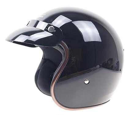 GTYW Hare Cascos Retro Motocicleta Cascos Built-in Lens Casco Retro Motocicleta,E-L