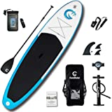 """FunWater All Round Inflatable 335cm(11')×81cm(32"""")×15cm(6"""") for All Skill Levels SUP Everything Included with Stand Up Paddle Board, Adj Paddle, Pump, ISUP Travel Backpack, Leash, Repair Kit, Waterproof Bag"""