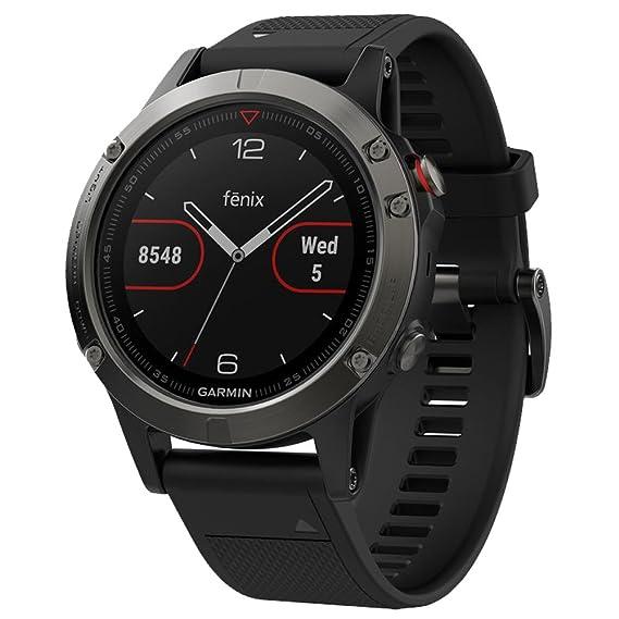 886010a5835f Amazon.com: Garmin Fenix 5 - Slate Gray with Black Band: Cell Phones ...