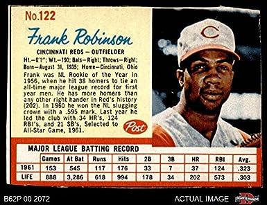 Amazoncom 1962 Post Cereal 122 Frank Robinson Cincinnati Reds