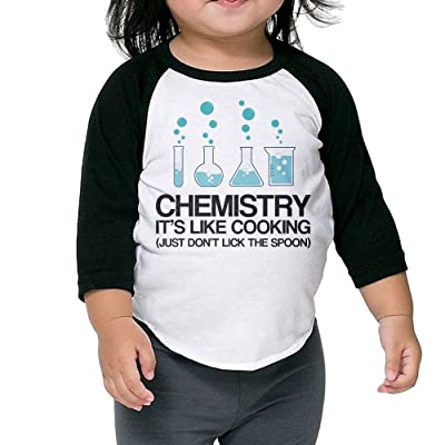 SH-rong Chemistry It's Like Cooking Toddler 3/4 Sleeve T-shirt