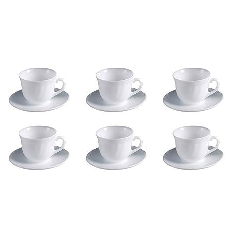 Teller Untertassen ARCOROC Trianon weiß 6 Stück Kaffeeuntertassen Set
